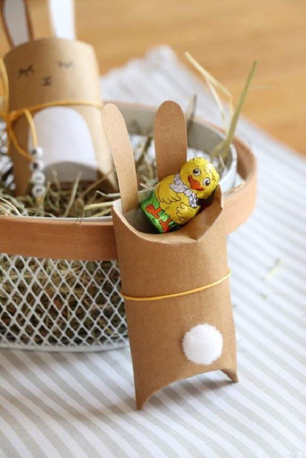 A Páscoa pode ficar ainda mais divertida na presença de artesanato com rolo de papel higiênico. Fonte: Pinterest
