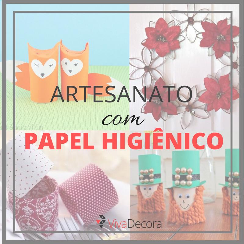 Infográfico Artesanato com Papel Higiênico