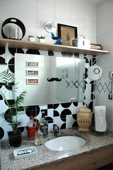 Banheiro da decoração afetiva Murilo Grilo