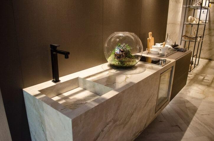 Bar em casa com utensílios Projeto de Casa Cor SP 2017