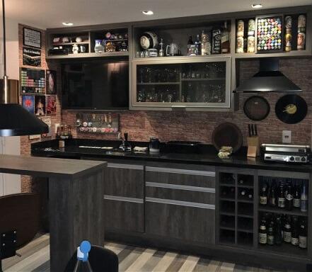 Bar em casa completo Projeto de Luciano Garbim Alvarez