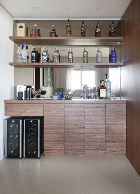 Bar em casa completo Projeto de SP Estúdio