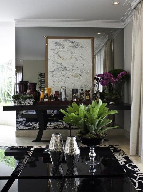 Bar em casa na sala Projeto de Fabio Morozini