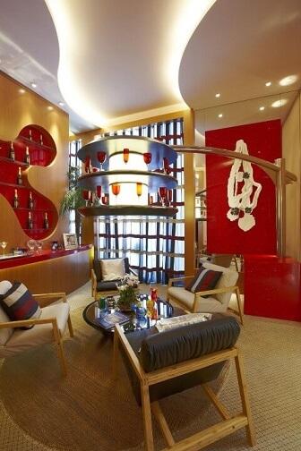 Bar em casa na sala de estar Projeto de Aquiles Nicolas Kilaris