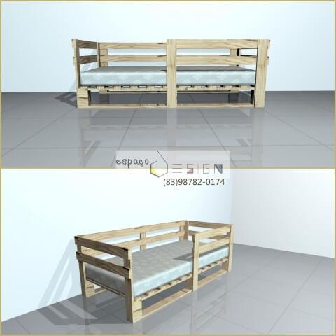 Cama de pallet de bebê Projeto de Rani Victor