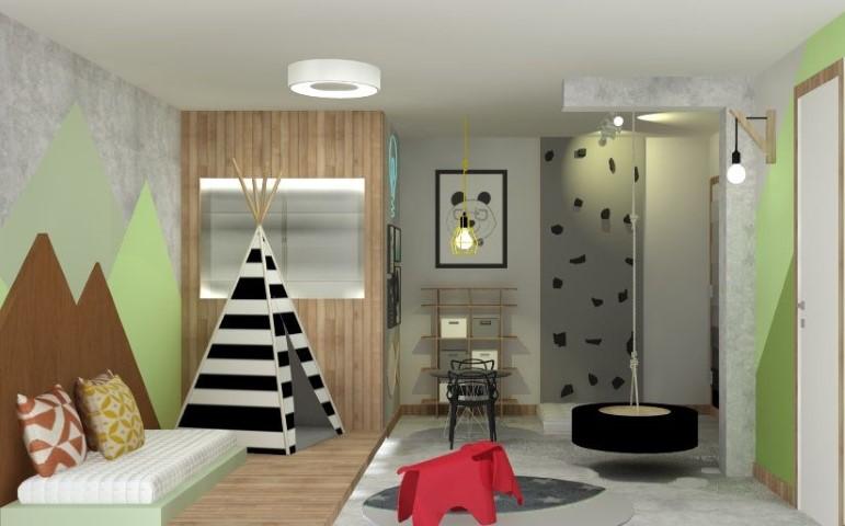 Cama montessoriana em quarto de menino Projeto de GFT Arquitetura e Interiores