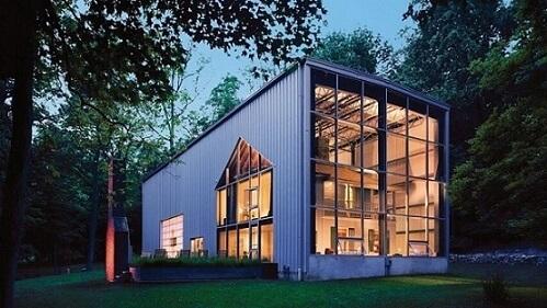 Casa container com aberturas grandes