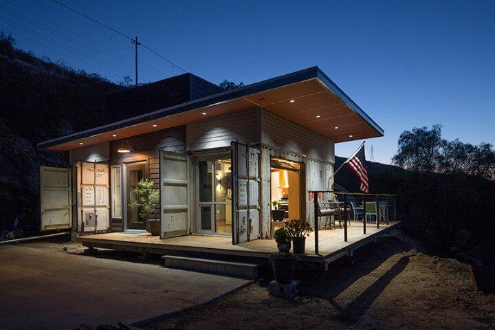 Casa container com varanda