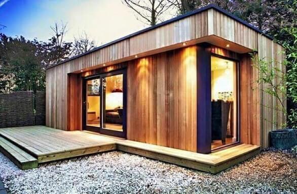 Casa container de madeira