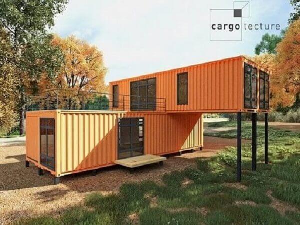 Casa-container-laranja