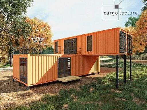 Casa container laranja