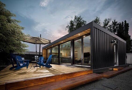 Casa container preta