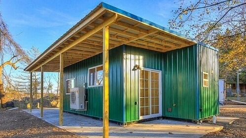 Casa container verde