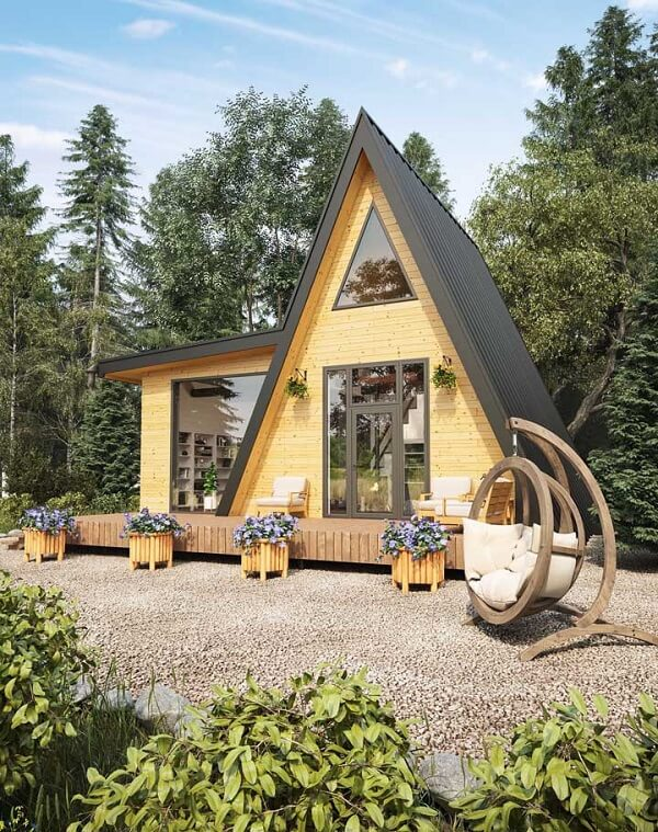 Casas simples com design criativo para se inspirar