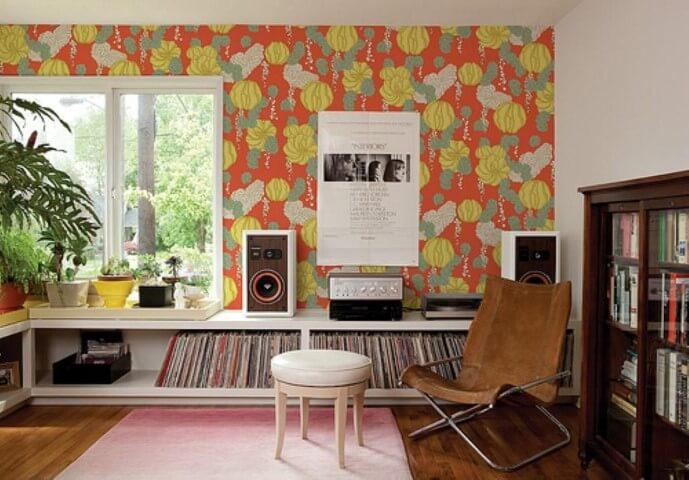 Como colar tecido na parede colorido