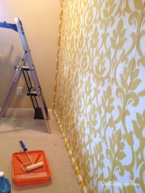 Como colar tecido na parede pronto
