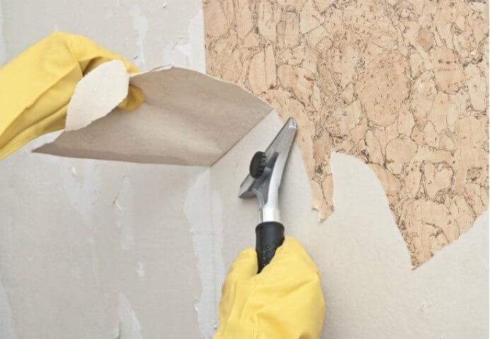 Como tirar papel de parede com amaciante