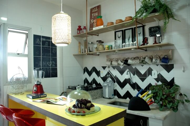 Cozinha da decoração afetiva Murilo Grilo