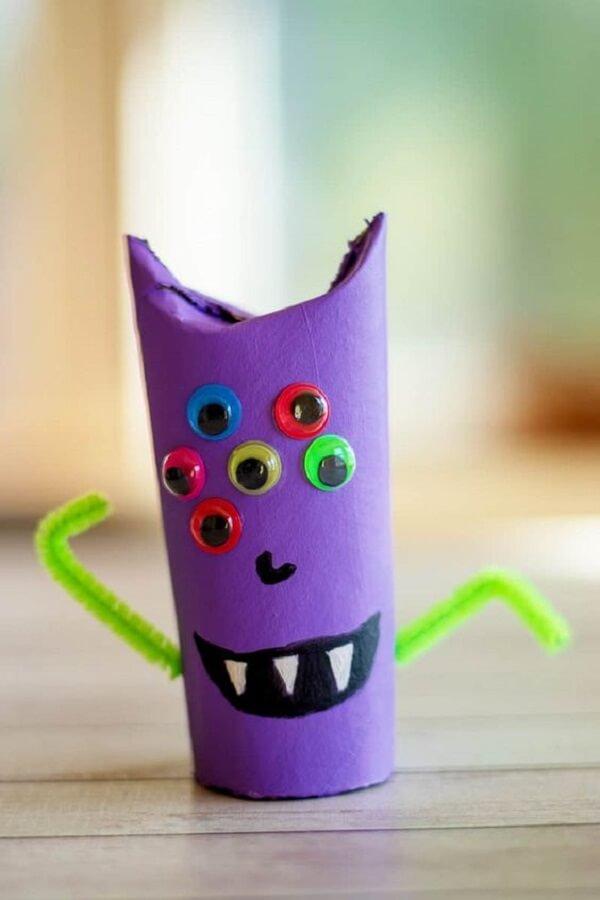 Crie monstrinhos divertidos com rolo de papel higiênico. Fonte: Pinterest