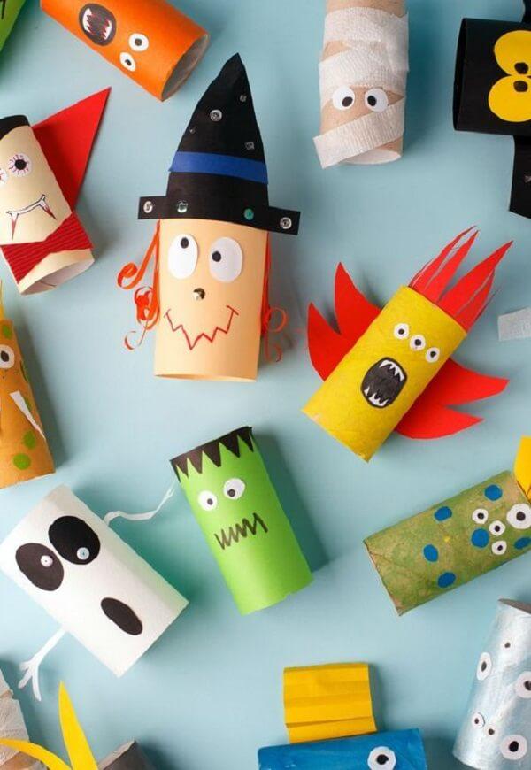 Crie peças criativas e divertidas com rolos de papel higiênico. Fonte: Pinterest