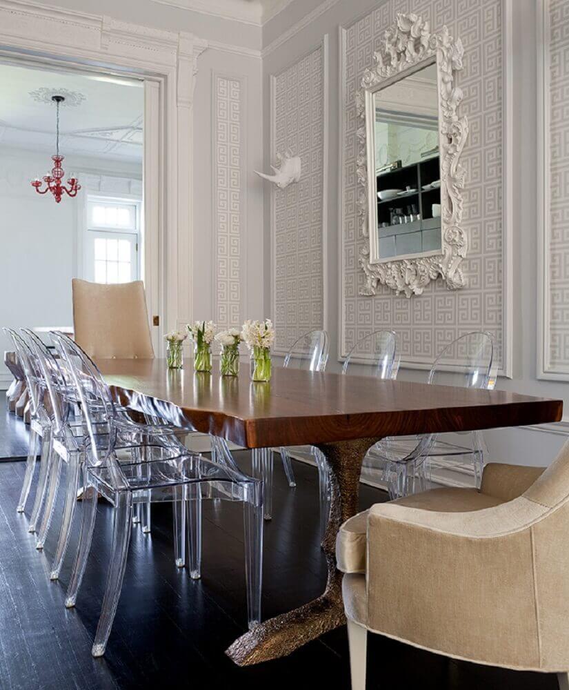 espelho provençal para sala de jantar