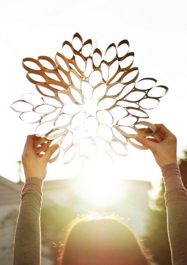 Forme um lindo mosaico por meio do artesanato com papel higiênico. Fonte: Pinterest