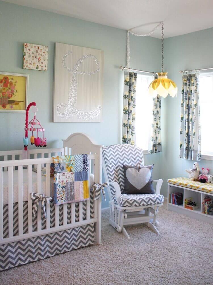Luminária pendente para quarto de bebê