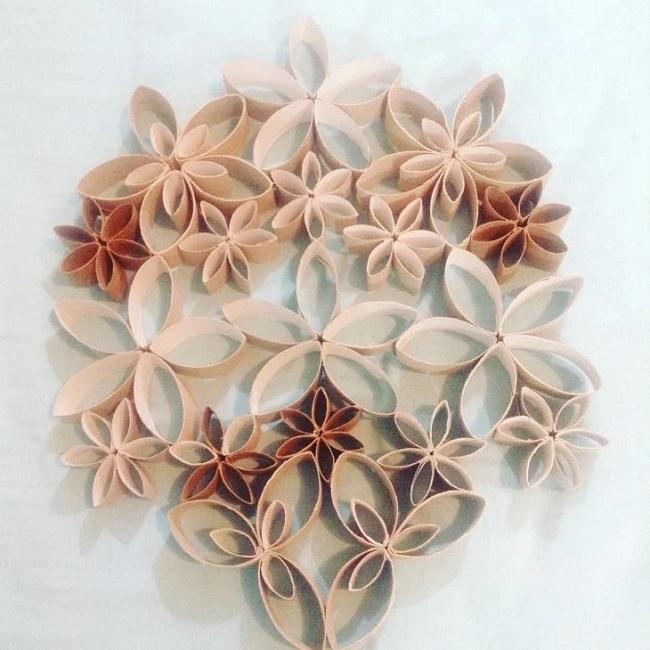 Mescle tonalidades na hora de criar seu artesanato com rolo de papel higiênico. Fonte: Winona