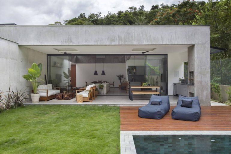 Modelo de casa com varanda