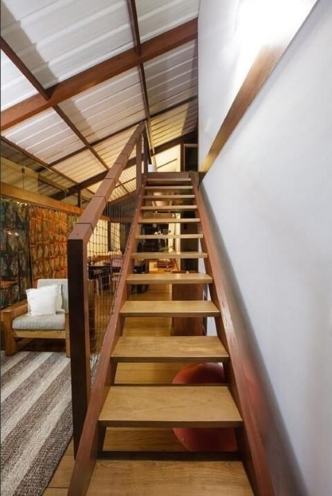 Modelos de escadas de madeira Projeto de Marina Bellusci