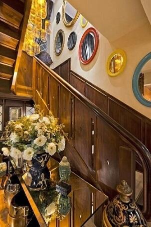 Modelos de escadas em U de madeira Projeto de Estúdio Pantarolli Miranda