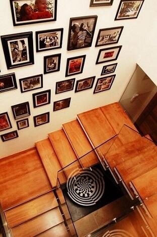 Modelos de escadas em U em vista aérea Projeto de Sandro Clemes