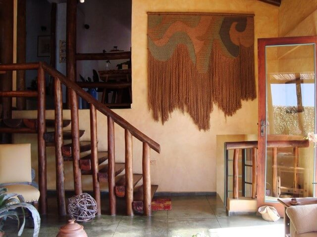 Modelos de escadas linear de madeira rústica Projeto de Fabio Melo