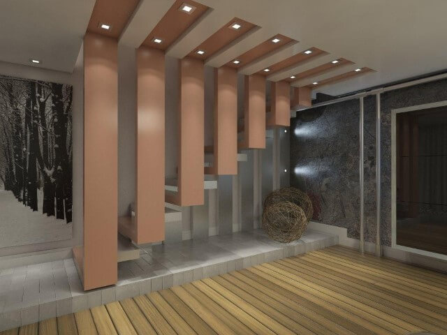 Modelos de escadas linear rosa Projeto de Ednilson Hin