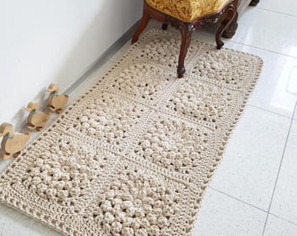 Passadeira de crochê com padrões