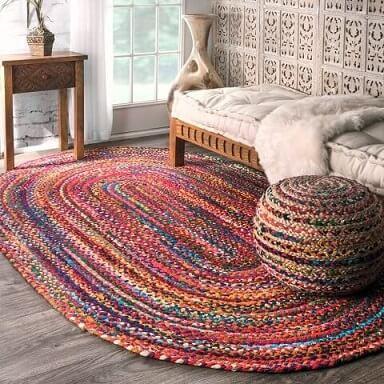 Passadeira de crochê grande colorido