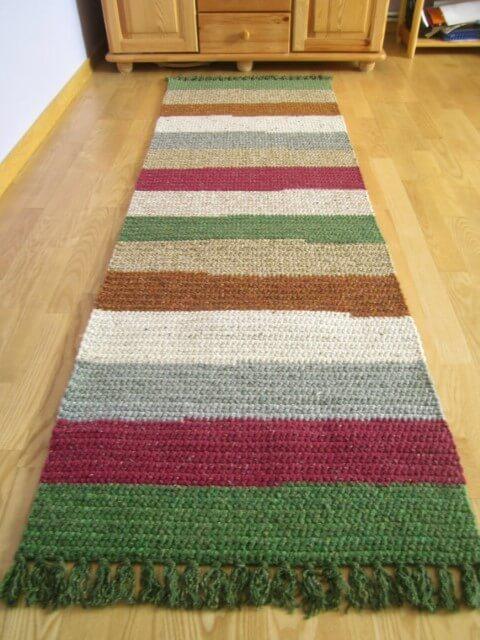 Passadeira de crochê listras verticais