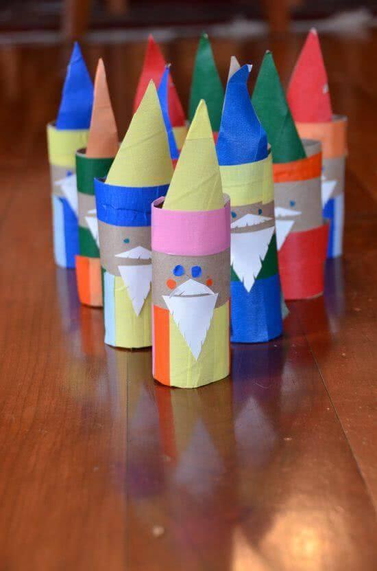 Personagens podem ser criados por meio do artesanato com papel higiênico. Fonte: Pinterest