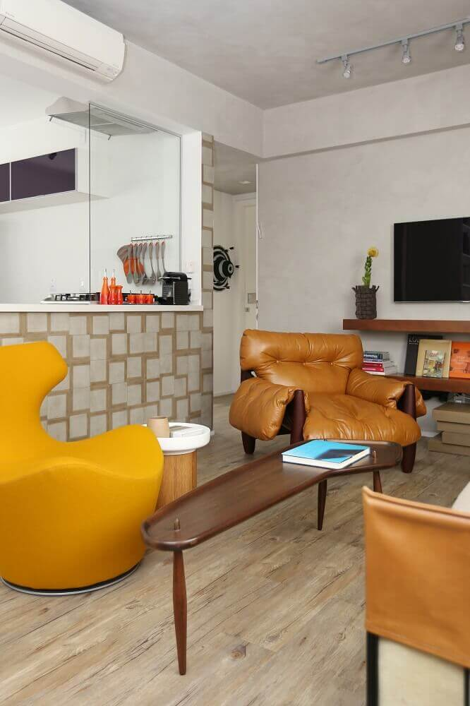 Poltrona moderna para sala de estar