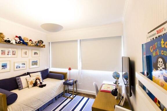 Quarto planejado infantil com cortinas de blackout Projeto de Decore Planejados