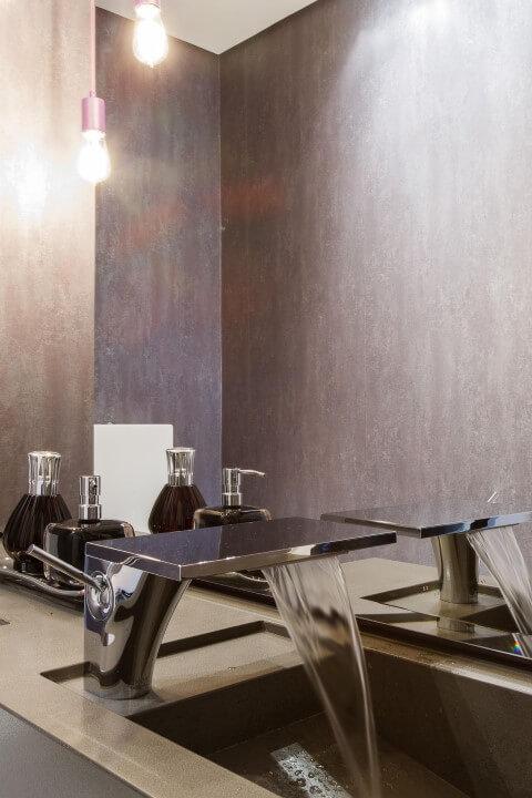 Torneiras de inox diferente Projeto de Orlane