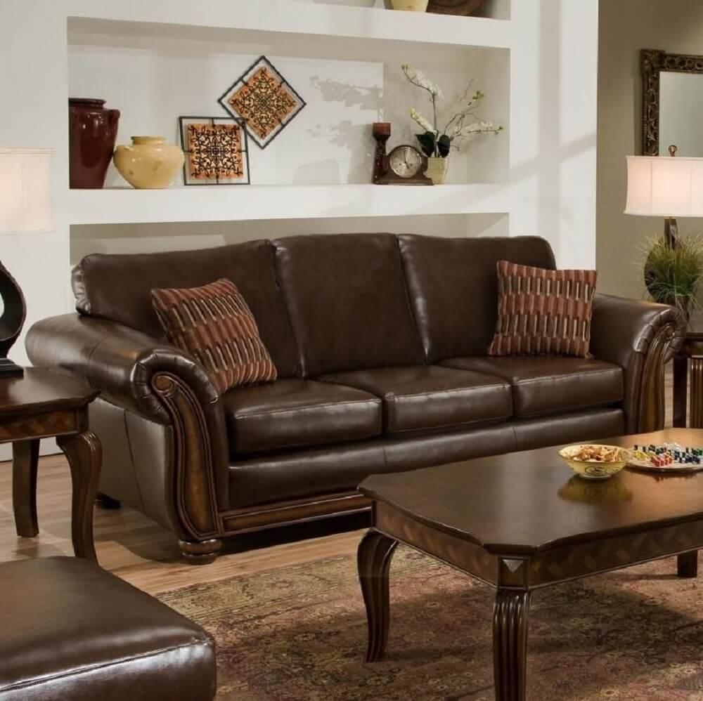 almofada marrom para sofá marrom