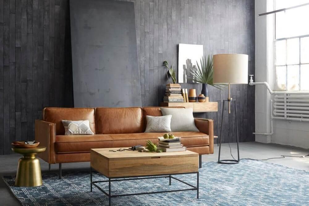 almofadas cinzas para sofá marrom