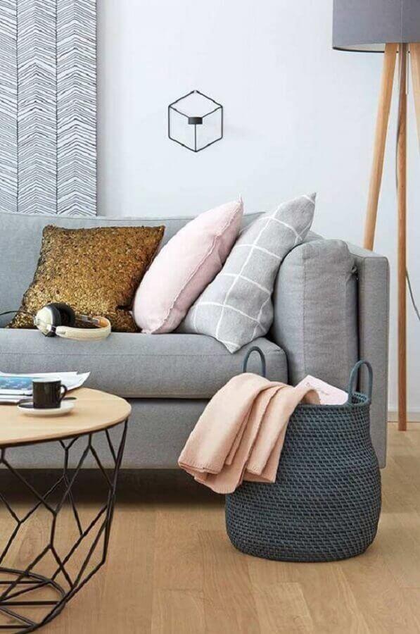 almofadas para sofá cinza Foto Pinterest