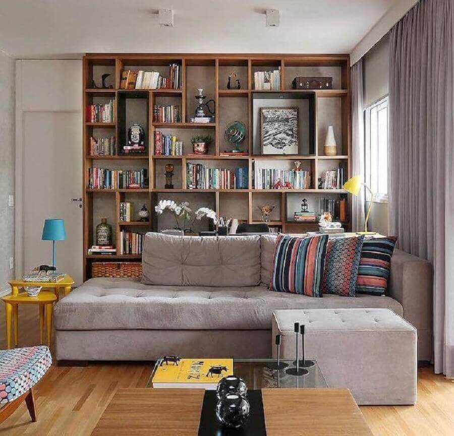 almofadas para sofá cinza de canto Foto Studio Novak