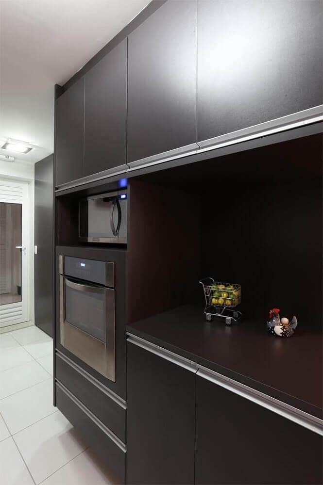 armário para cozinha preta
