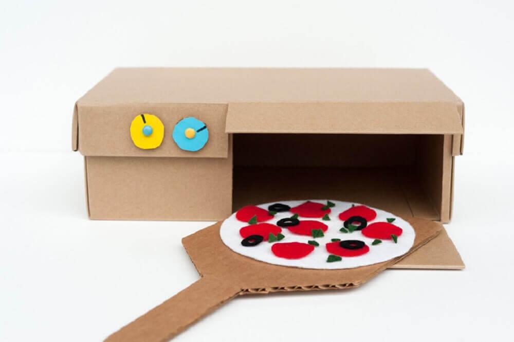 artesanato com caixa de sapato para criança