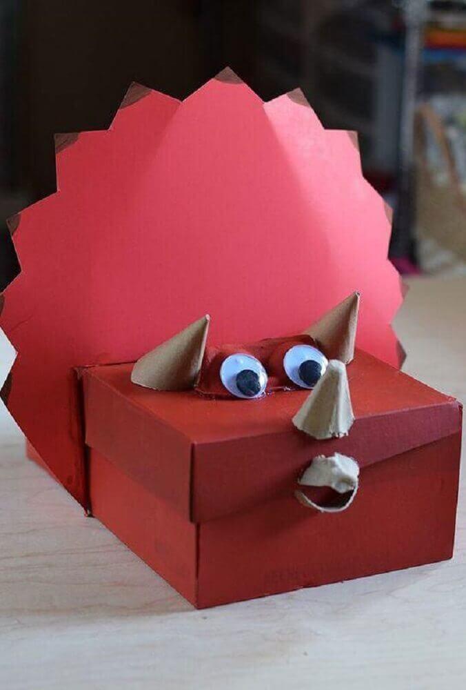 artesanato com caixa de sapato para crianças