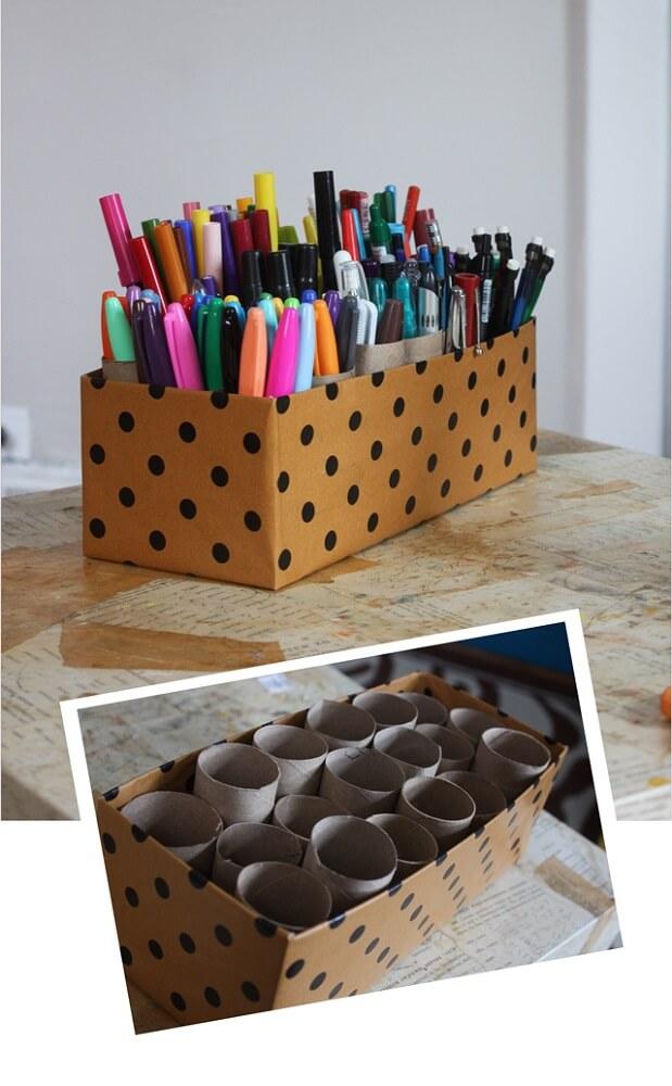 artesanato com caixas de sapatos