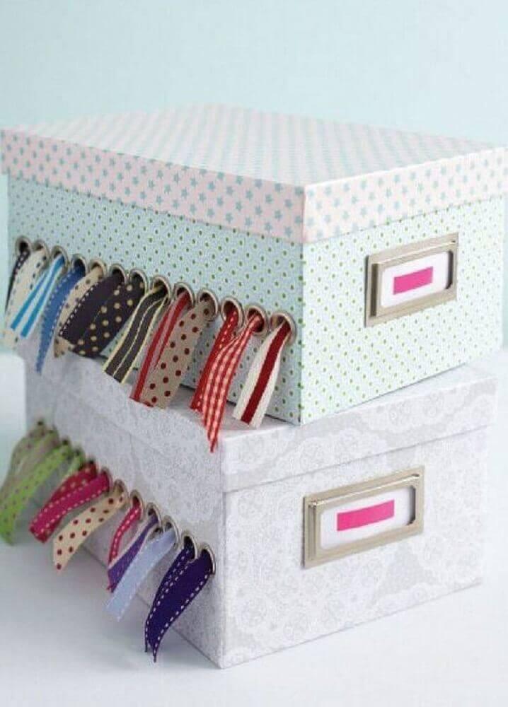caixa de costura de caixa de sapato